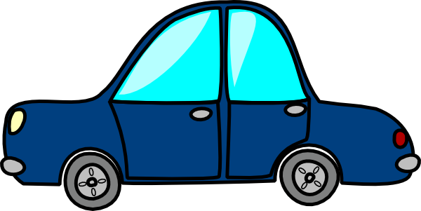 600x301 Blue Car Clip Art
