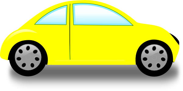 600x301 Yellow Car Clip Art