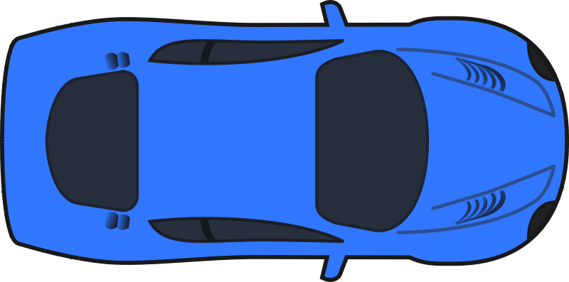 800x397 Car clipart top view