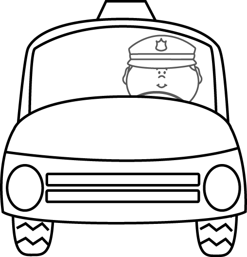 508x528 Police Clipart Black And White