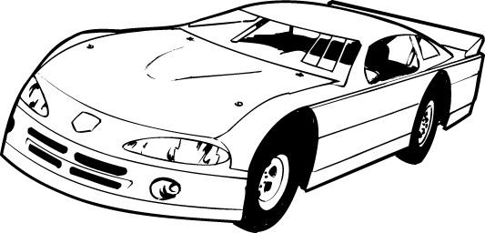 533x256 Stock Car Race Car Clipart