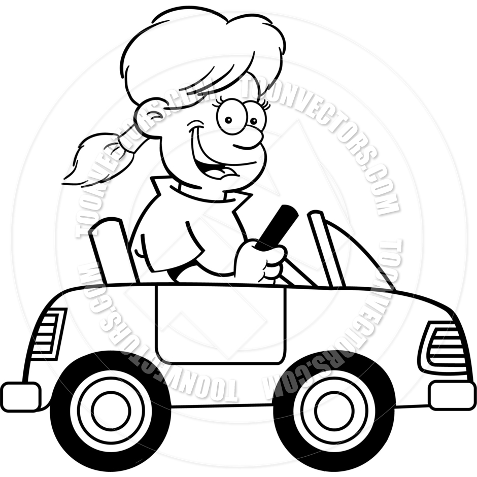 940x940 White Car Clipart