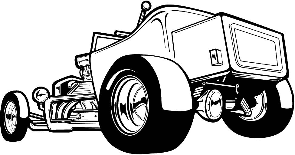 975x512 Classic Car Clipart Hot Rod