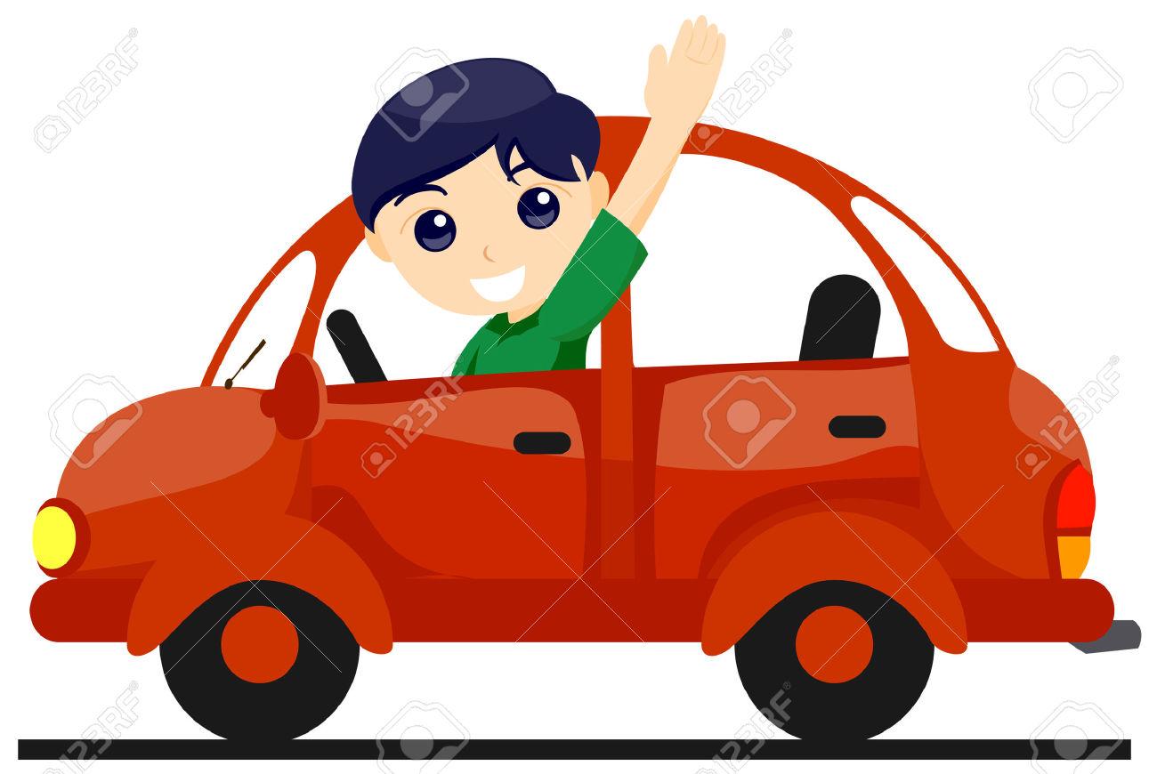 1300x870 Boy Driving Car Clipart