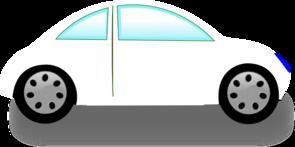 295x147 White Car Clip Art