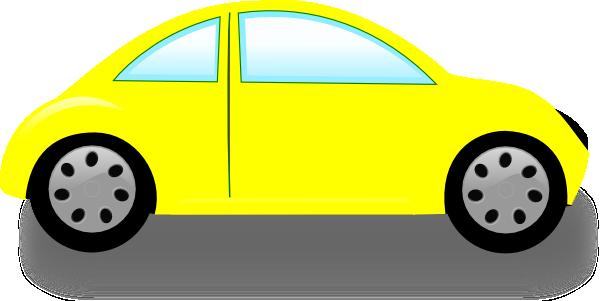 600x301 Yellow Car Clip Art
