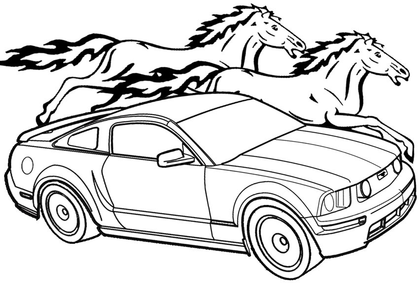 850x578 Car Coloring Pages 360coloringpages