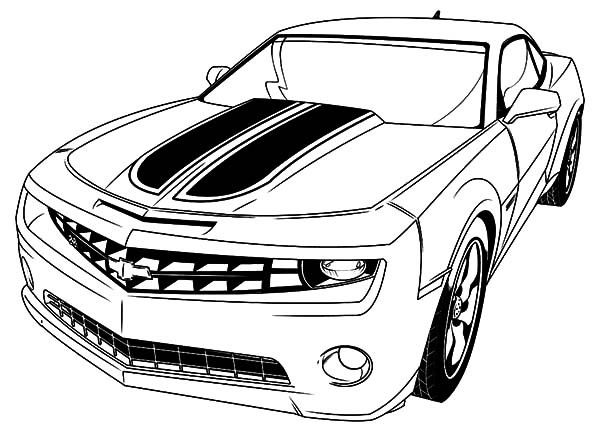 600x428 Car Coloring Pages Chevrolet Camaro