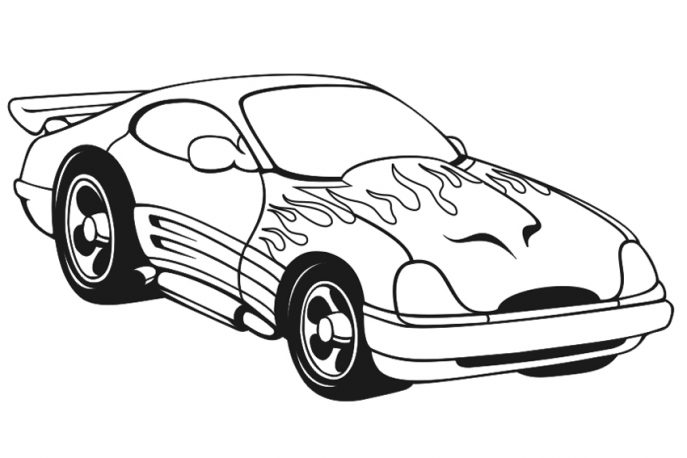 687x458 Coloring Pages Race Car Coloring Pages Coloring Race Car Pages