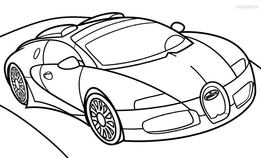 850x516 free to download bugatti coloring pages 56 in line drawings with - Cool Car Coloring Pages