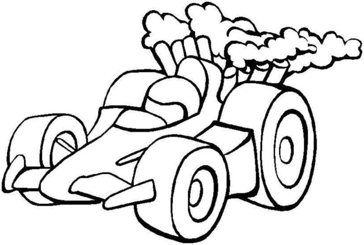 1204x813 New Race Car Coloring Page 34