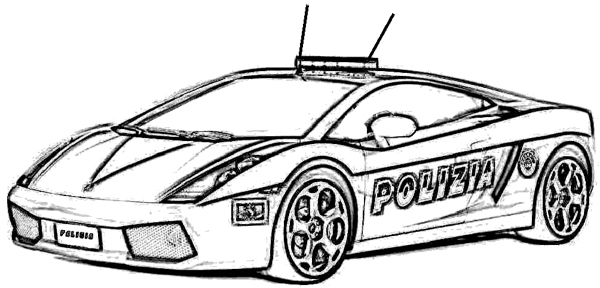 600x288 Police Car Coloring Page Background Coloring Police Car Coloring