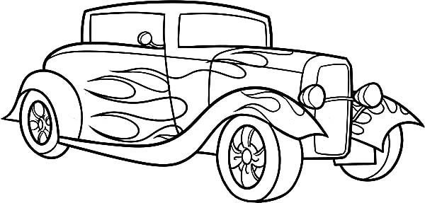 600x287 Amusing Hot Rod Coloring Pages 43 In Coloring Pages For Kids
