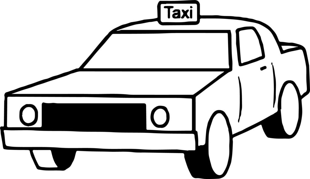 1024x591 Taxi Box Car Coloring Page Wecoloringpage Inside