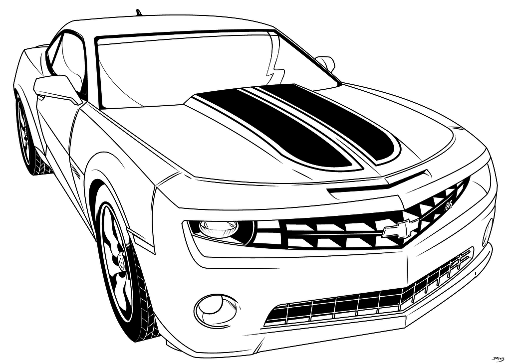 1024x730 Transformer Bumblebee Car Coloring Pages