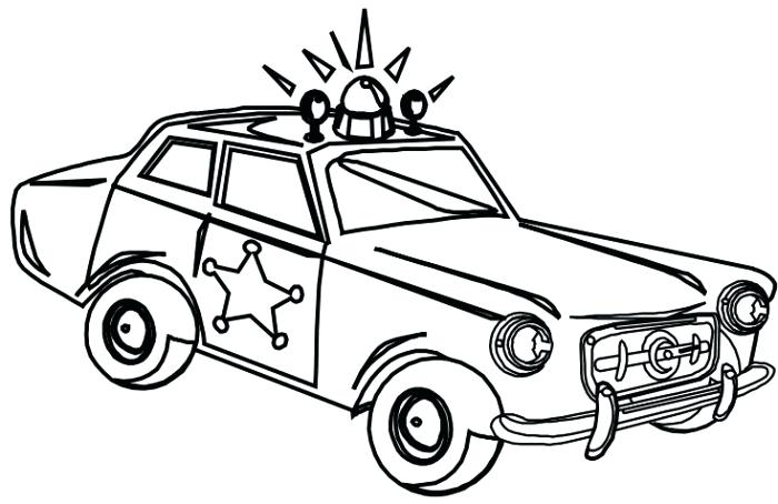 700x454 Police Car Coloring Pages