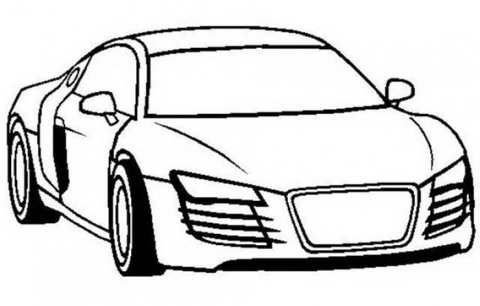 700x446 Audi S3 Car Coloring Page