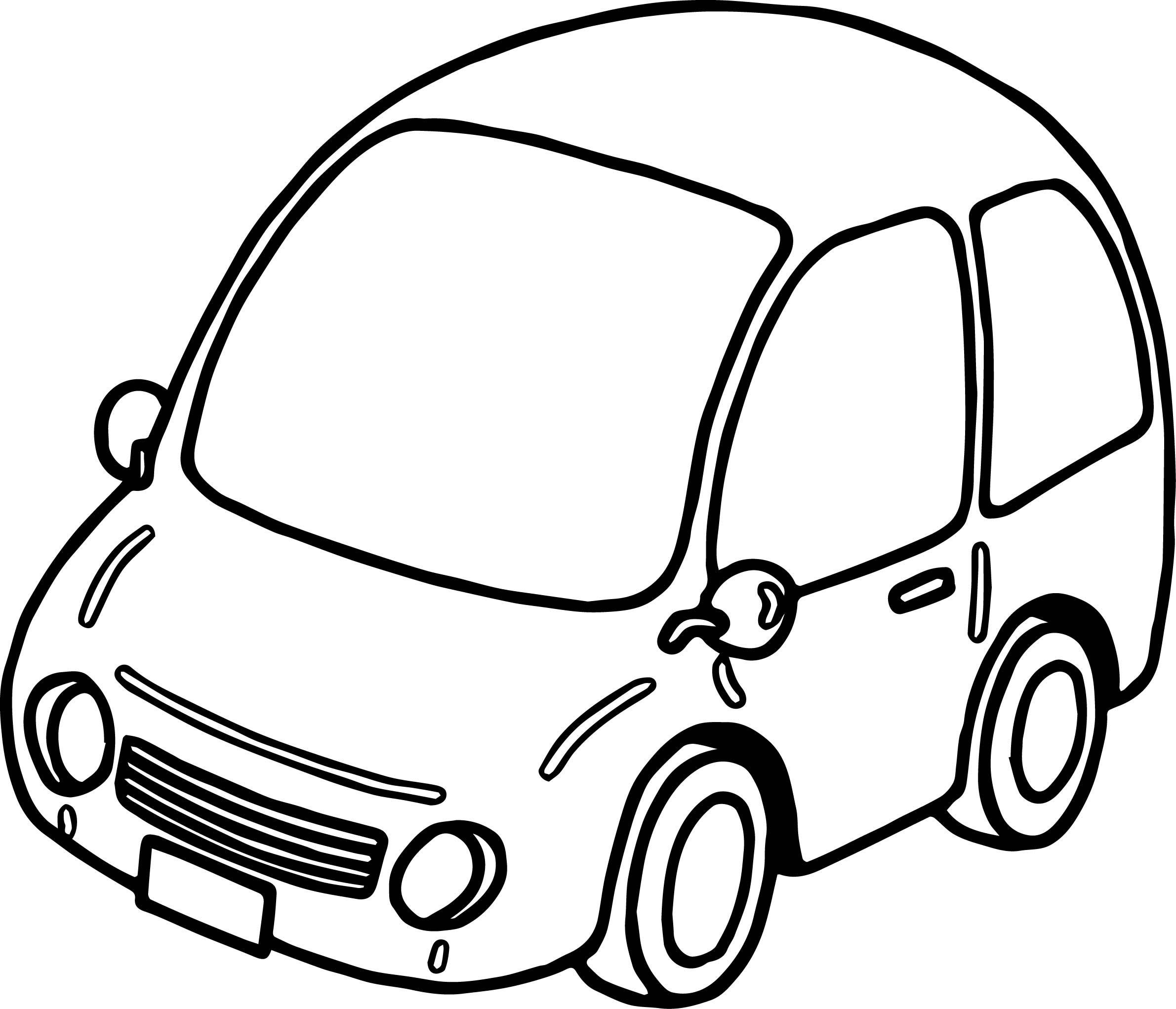 2381x2043 Basic Car Coloring Page Wecoloringpage
