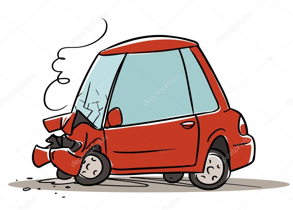 1024x734 Car Crash Stock Vector Natashin