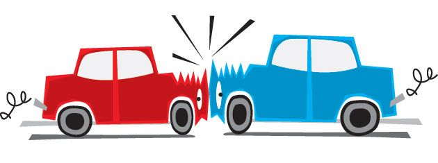 630x235 Cartoon Car Crash Clipart