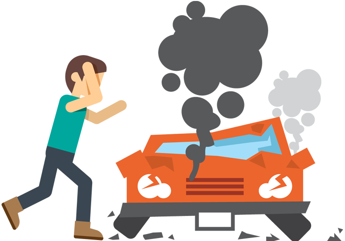 700x490 Cartoon Adult Upset Man In Front Of Crash Car 1designshop