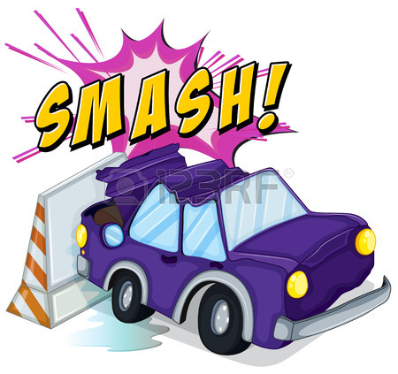 450x423 Illustration Of A Car Accident Royalty Free Cliparts, Vectors,