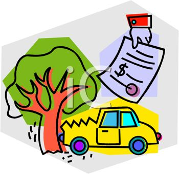 350x339 Tree Clipart Car Crash