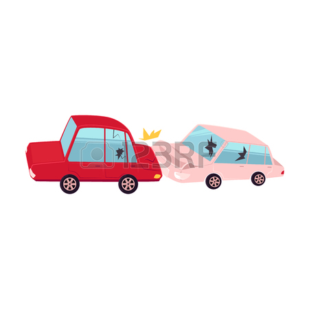 450x450 Vector Flat Cartoon Car Character With Eyes Crash, Accident