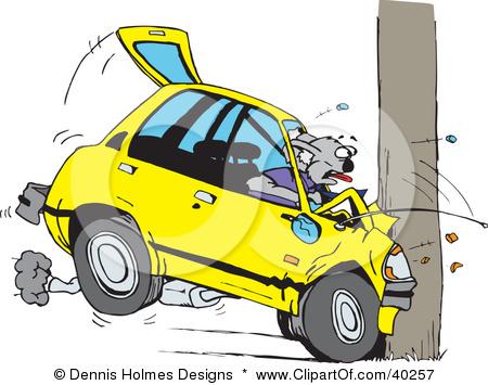 450x355 Cartoon Car Crash Clipart