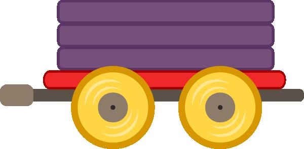 600x295 Train Car Purple Clip Art