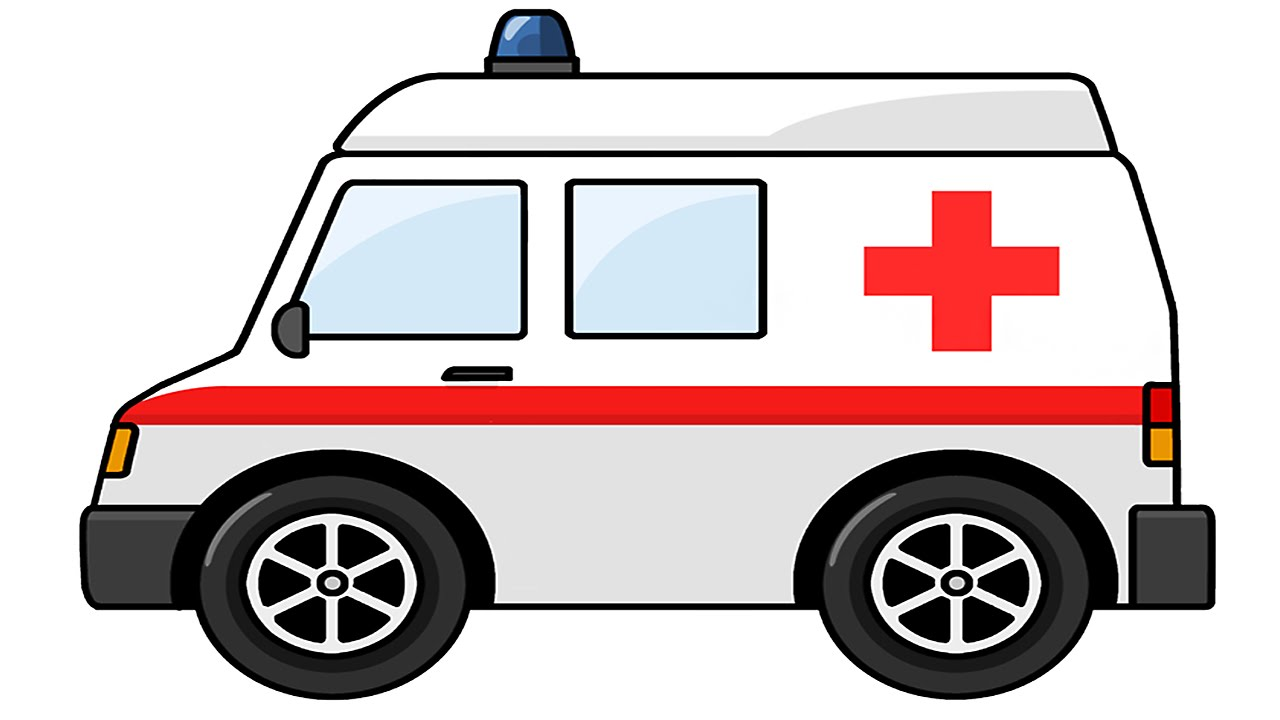 1280x720 Ambulance Cartoons For Children About Cars Kid's Construction