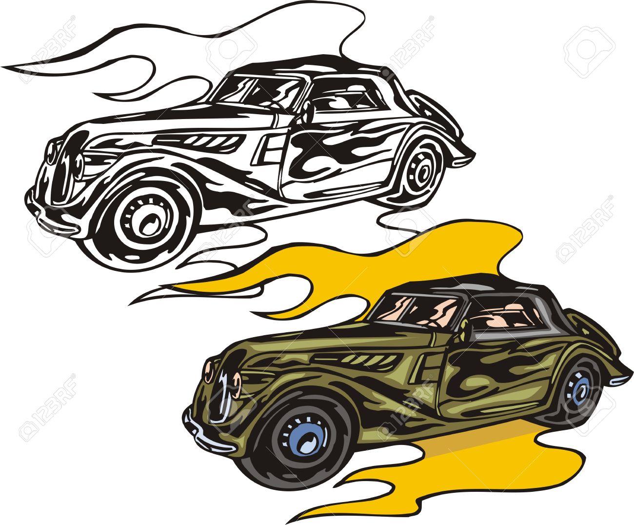 1300x1076 Flaming Car Clipart