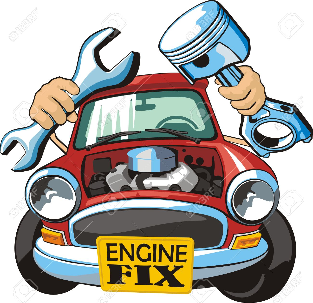 1300x1257 Car With Wrench Piston Royalty Free Cliparts, Vectors,