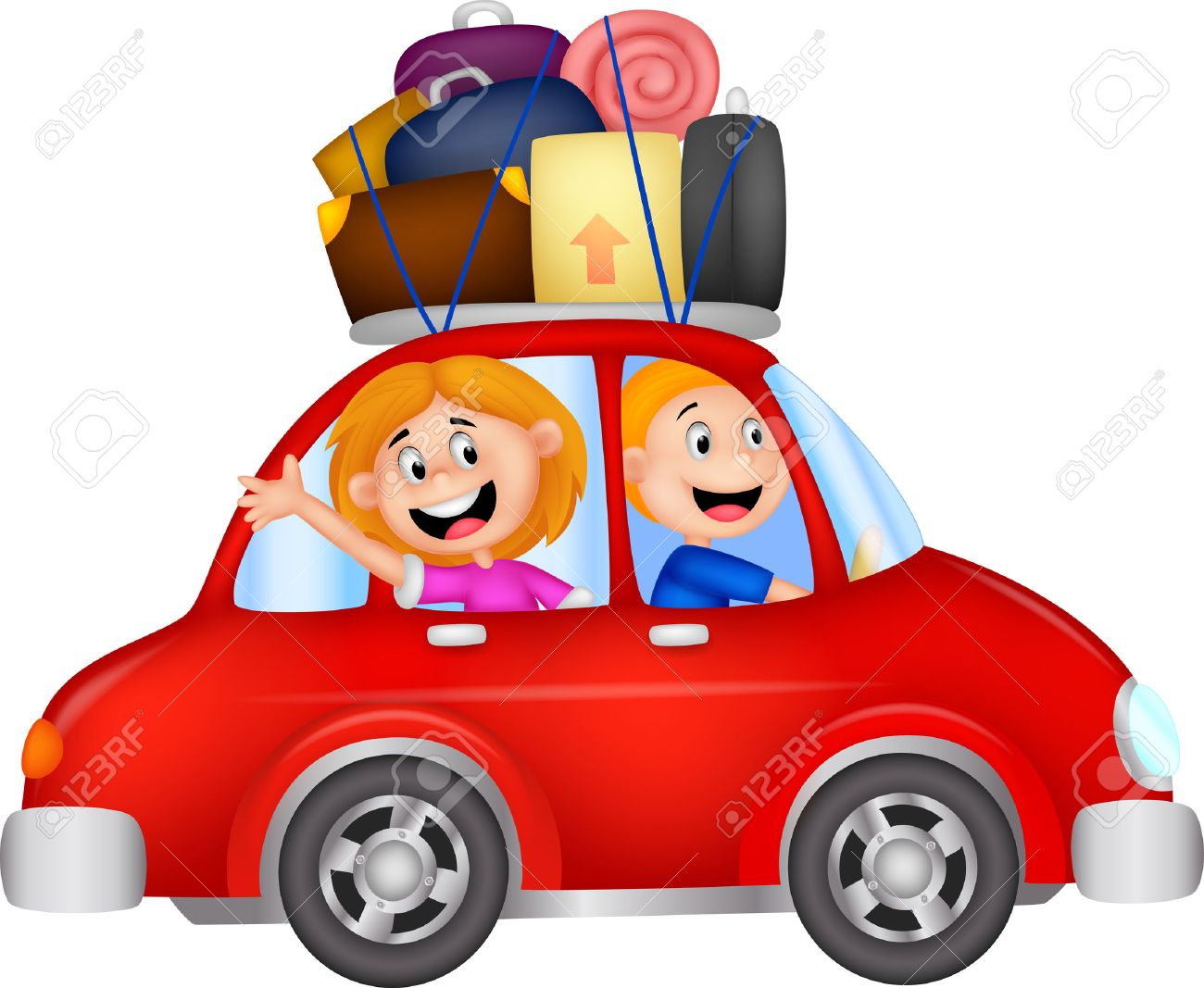 1300x1067 Family Cartoon Traveling With Car Royalty Free Cliparts, Vectors