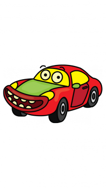 215x382 How To Draw A Children Sports Car, Cartoons, Easy Step By Step