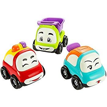 350x350 Cartoon Animals Friction Push And Go Toy Cars Play Set