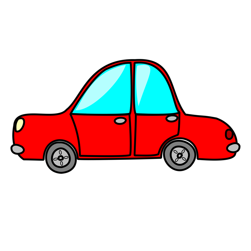 958x958 Car Free Stock Photo Illustration Of A Red Cartoon Car