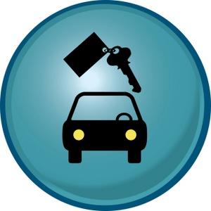 300x300 Rental Car Clipart Image