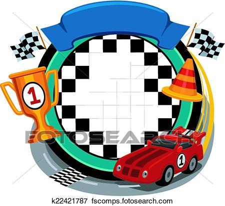 450x413 Clip Art Of Car Racing Frame K22421787