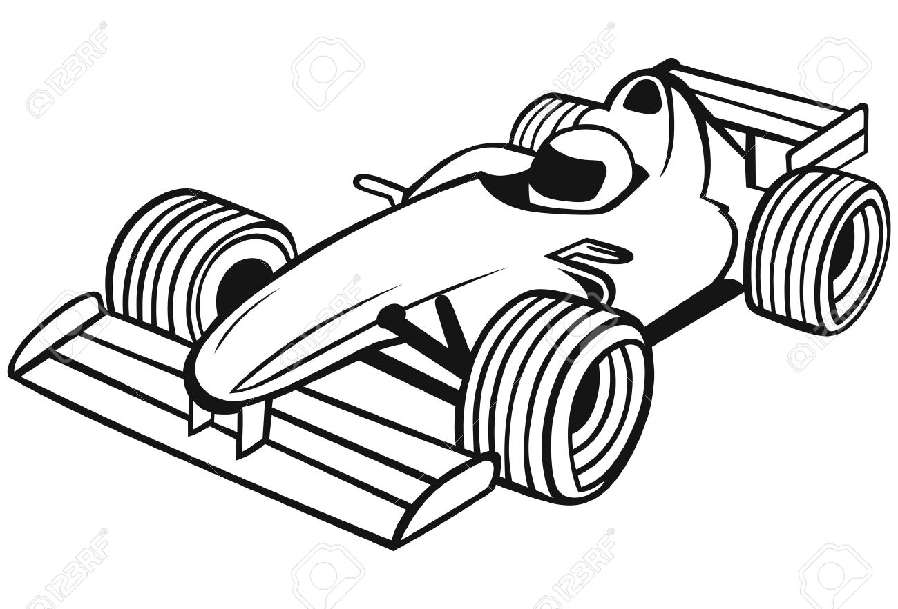 1300x883 Race Car Clipart Black And White