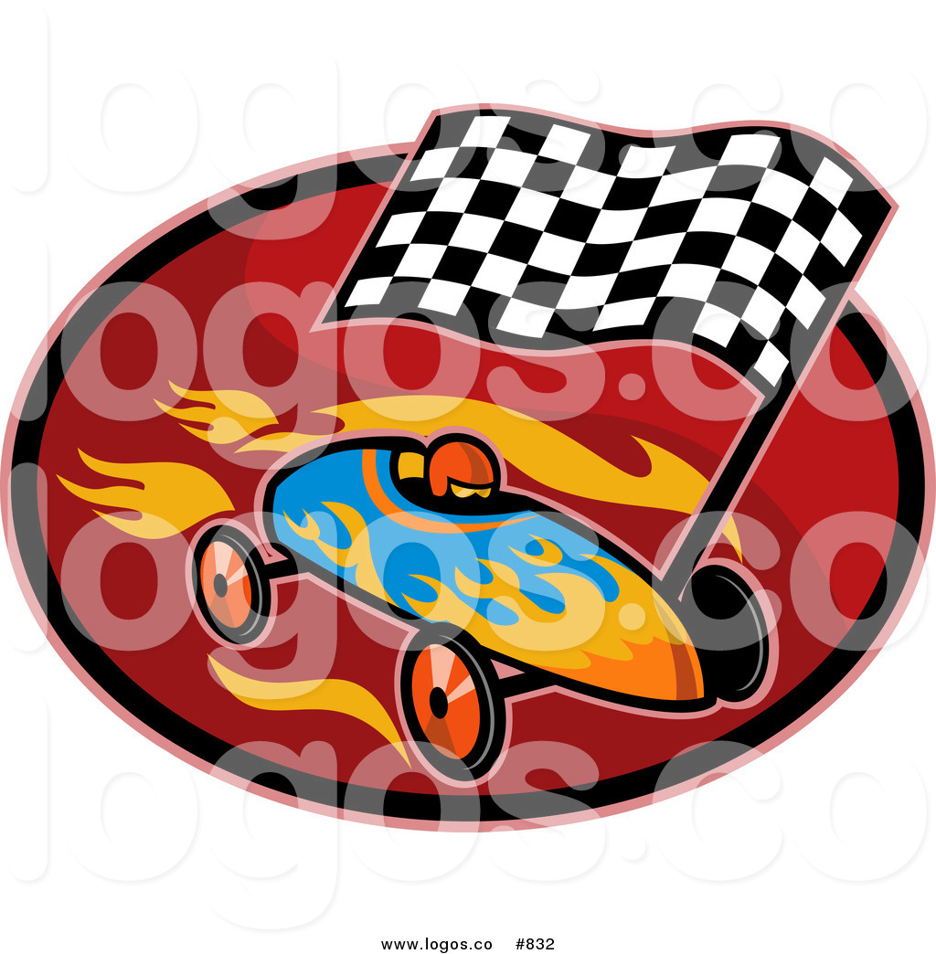 1024x1044 Royalty Free Vector Logo Of A Raceing Car By Patrimonio