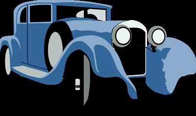 400x237 Blue Car Clipart Classic Car Show
