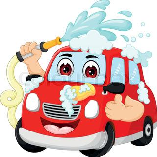 320x320 Car Wash Cartoon Isolated On White Stock Vector Colourbox