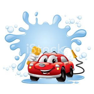 300x300 Cartoon Car Car Wash Premium Clipart