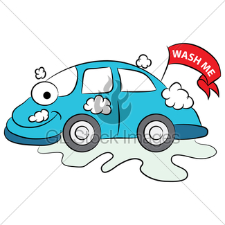 325x325 Cartoon Car Wash On Road Gl Stock Images