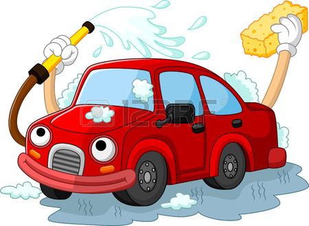 450x329 Funny Car Wash Cartoon Royalty Free Cliparts, Vectors, And Stock