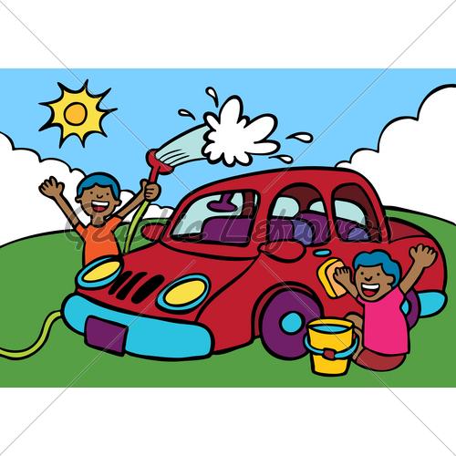 500x500 Y424syno Cartoon Car Wash Clip Art