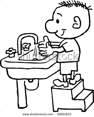 380x470 Clipart Kids Washing Hands
