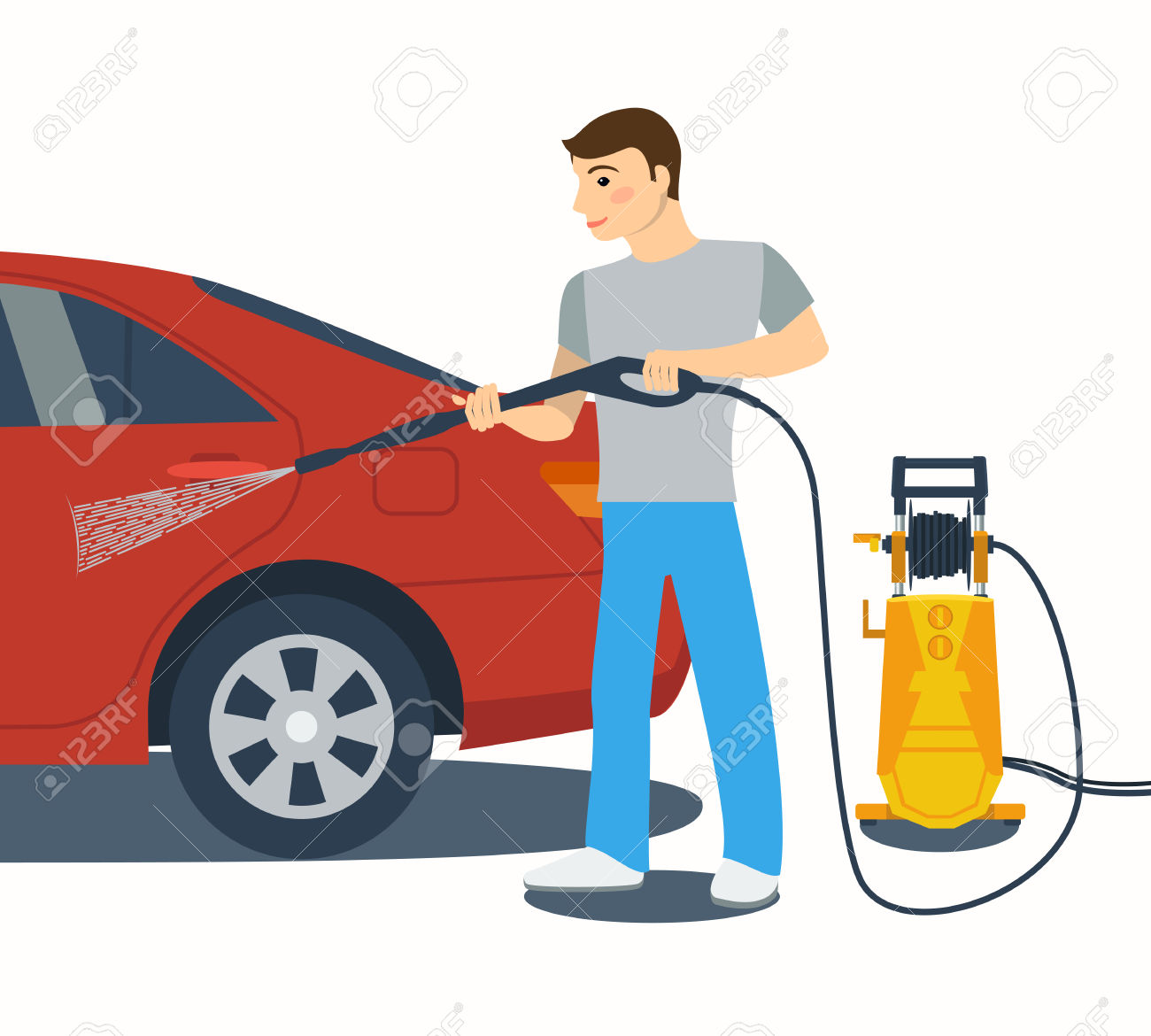 1300x1170 Cleaning Car Using High Pressure Water Car Wash Clipart, Explore