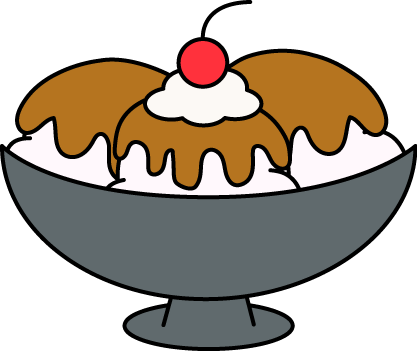 417x351 Caramel Ice Cream Sundae Clip Art